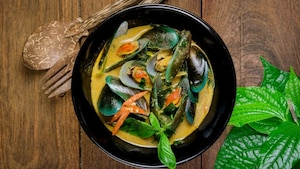 Moules au curry