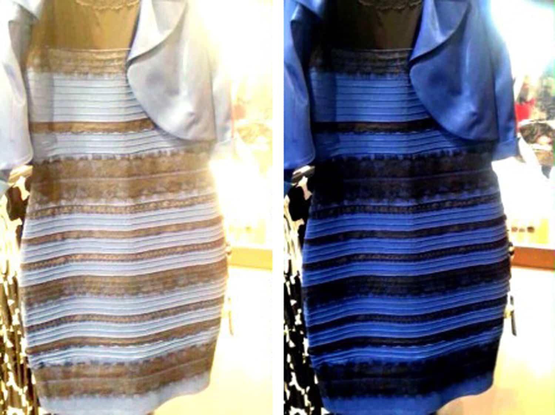 Robe blanche ou bleu photo originale