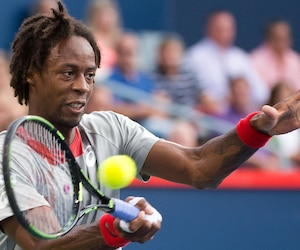 Le Français Gaël Monfils a livré une leçon de tennis à son adversaire, hier.