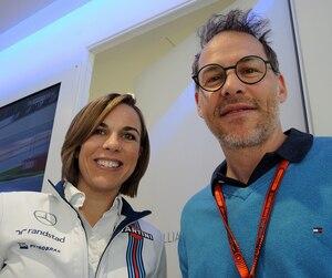Claire Williams a renoué avec Jacques Villeneuve, lors du Grand Prix d'Espagne de mai dernier.