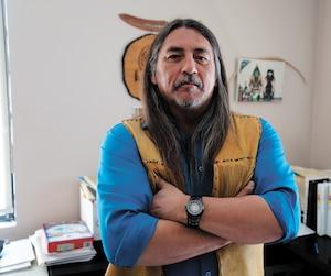 Le grand chef du conseil de bande de Kanesatake, Serge Simon, s'est montré déterminé à bloquer le projet résidentiel proposé par Gestion Benoît Dumoulin, à Oka.