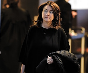 L'ex-vice-première ministre Nathalie Normandeau au palais de justice de Québec en février 2018.