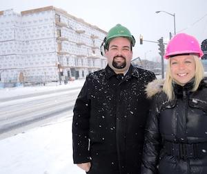 Benoît Durand et Véronique Poulin suivent pas à pas la construction de la Maison Martin-Matte/Pavillon Patrice-Villeneuve, sur le boulevard de l'Ormière, à Québec.