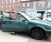 Le Montréalais Patrick Legault vit dorénavant dans sa voiture, une Toyota Tercel1997. L'ex-fonctionnaire devenu sans-abri assure qu'il s'agit de «son meilleur achat».
