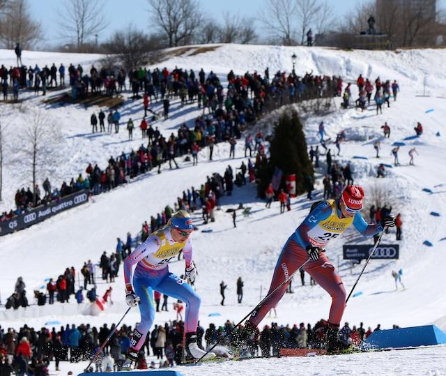 Les spectateurs étaient au rendez-vous pour encourager les athlètes tout au long de la fin de semaine.