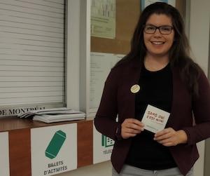 La campagne «Sans oui, c'est non!» aurait été plus difficile à promouvoir sans la collaboration des associations étudiantes, croit Andréanne St-Gelais de la FAÉCUM.