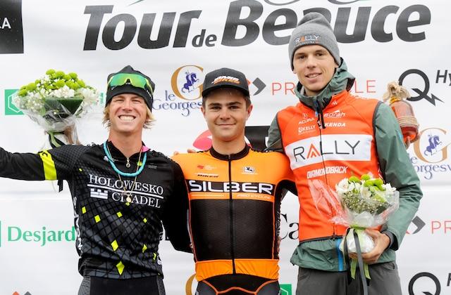 La troisième course du Tour de Beauce 2017 a été disputé vendredi matin sous une pluie torrentielle au secteur St-Jean-de-la-Lande de Saint-Georges, et Alec Cowan de la formation canadienne Silber Pro Cycling a signé sa première victoire UCI en carrière.
