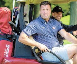 L'ancien buteur étoile du Canadien Stéphane Richer était dans une forme splendide au tournoi de golf du Canadien, hier.