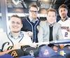 William Robitaille et Jean-Nicolas Blanchet, des Castors CDE, ainsi que Dominik Walsh et Maxime Martin-Gagnon, des Diamants, attendent le début de saison de pied ferme dans la LBJÉQ, présidée par Rodger Brulotte.