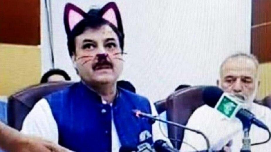 Image principale de l'article Un ministre avec un filtre de chat dans le visage