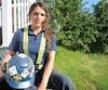 Jessica Saint-Martin est électricienne depuis 5 ans et fait partie du comité de femmes de la FTQ-Construction depuis un an.