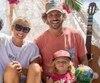 Anouk Dewailly, son conjoint Raphael De Lacotte et leur fils Zaö ont vécu l'ouragan Maria dans leur résidence de la Guadeloupe.