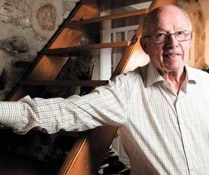 Bernard Landry dans sa résidence ancestrale de Verchères, en Montérégie, le 1er septembre 2015.
