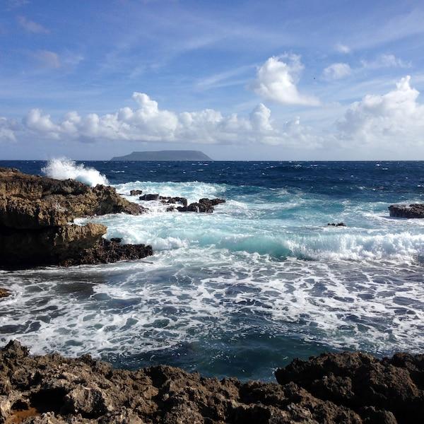 Pointe-des-Châteaux, avec la Désirade au loin, Guadeloupe.  Janvier 2016.  SARAH BERGERON-OUELLET  / AGENCE QMI