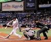 De nombreux sièges du Tropicana Field sont inoccupés durant les matchs des Rays de Tampa Bay.