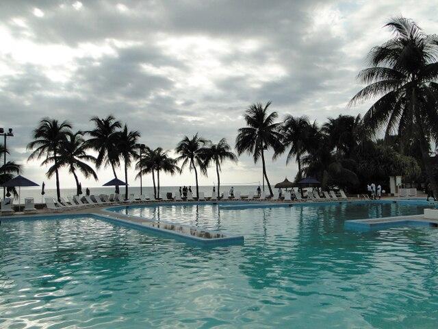 La piscine du Club Indigo, en Haïti.