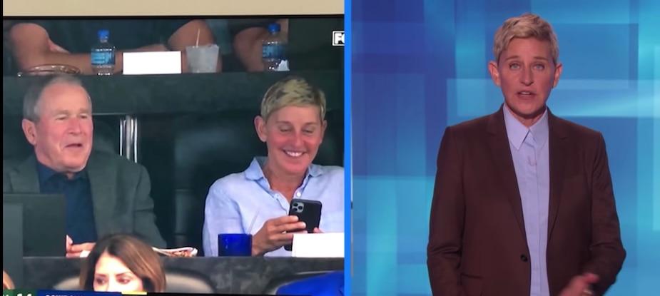Image principale de l'article Voici pourquoi Ellen était assise avec Bush