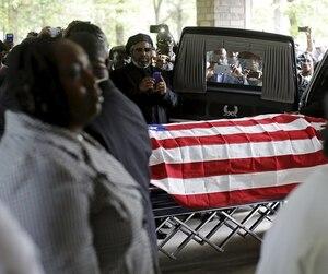 Funérailles de Walter Scott, en avril 2015