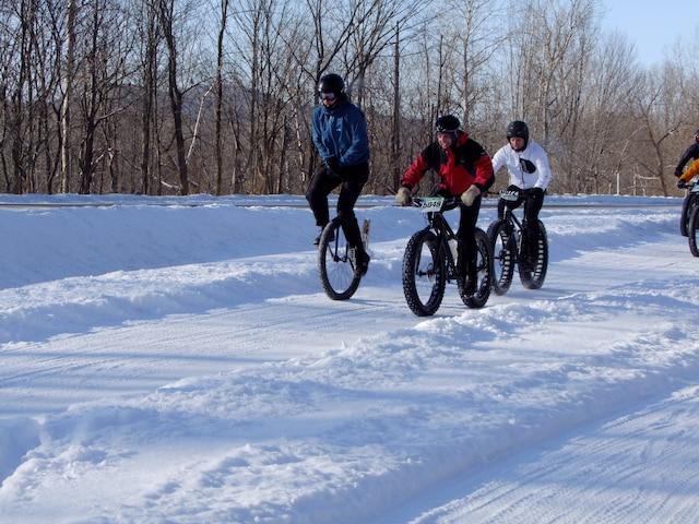 Le mono Fat bike aussi de la course