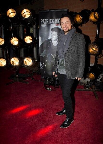Jérôme Couture lors du tapis rouge avant le spectacle du chanteur Patrick Bruel au Centre Bell de Montréal.
