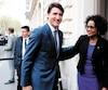 Le premier ministre canadien, Justin Trudeau, et la secrétaire générale de l'Organisation internationale de la Francophonie, Michaëlle Jean