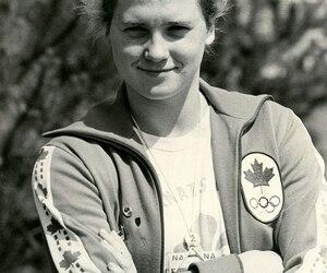 Hélène Boivin était la seule nageuse québécoise francophone aux Jeux de Montréal.