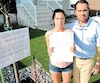 France Bourgault et Martin Dignard avaient fait confiance à un entrepreneur et déboursé 8000 $ pour la pose de gazon synthétique devant leur résidence. Or, la pose de ce type de gazon est prohibée à Québec.