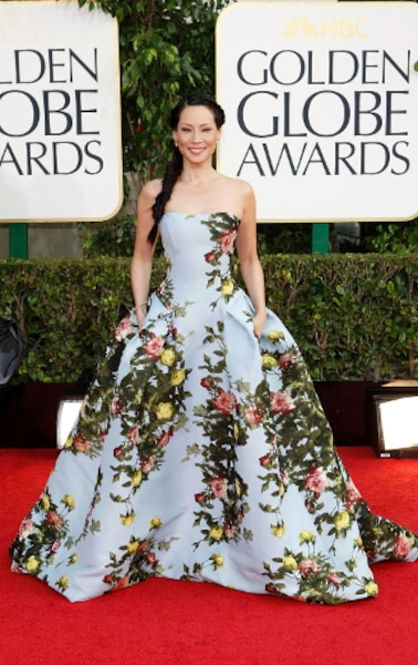 L'actrice Lucy Liu n'a pas donné sa place sur le tapis rouge.