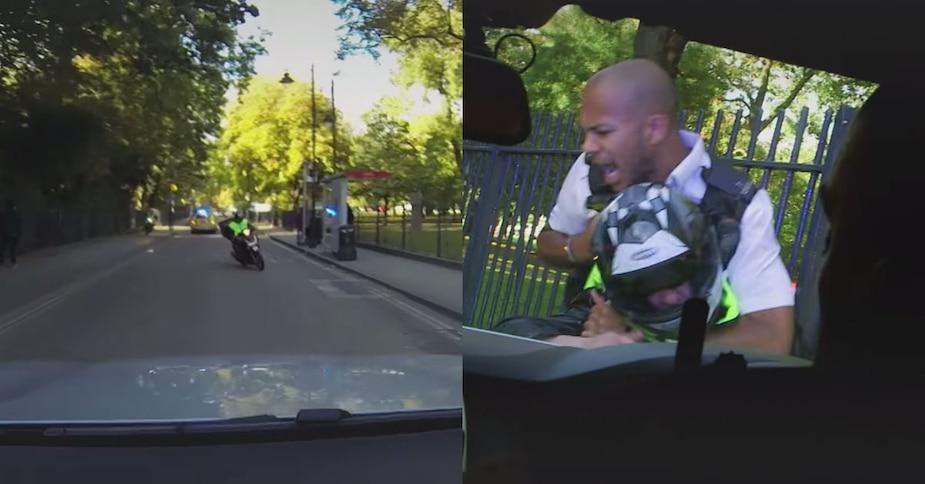 Image principale de l'article Un policier frappe un scooter avec son auto