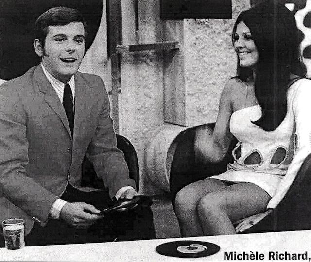 Pierre Lalonde et Michèle Richard, dans les années 1960.