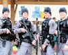 Garda, qui a son siège social à Montréal, souhaite prendre le contrôle de G4S. Sur la photo, on voit des policiers de G4S en formation .