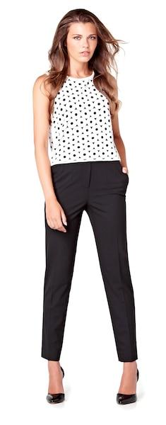 Haut à découpes circulaire 49,90$, pantalon 99,90$ chez RW&Co.