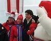 «C'est important pour nous comme événement. Ça nous fait une belle sortie en famille où on peut célébrer notre patrimoine et en profiter avec les gens par une belle journée d'hiver», a confié Justin Trudeau.