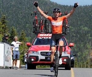 Matteo Dal-Cin est sorti grand vainqueur de la deuxième étape du Tour de Beauce, jeudi, au mont Mégantic.