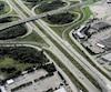 La circulation était dense sur l'autoroute de la Capitale, dans le secteur de l'autoroute Robert-Bourassa, mardi en fin d'après-midi.