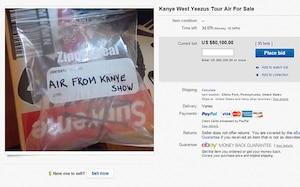 Un sac d'air sur eBay pour plus de 60 000$