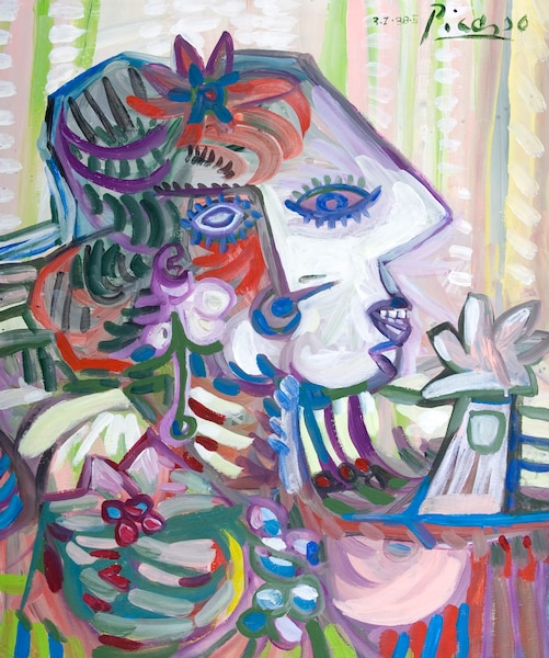 Picasso <br /> Acrylique 20'' x 24'' (1987)<br /> Un hommage au célèbre peintre d'origine espagnole.
