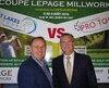 Guy Bonneville, président de la compagnie Lepage Millwork, et Jean Trudeau, président du Circuit Canada Pro Tour, présenteront une compétition à Rivière-du-Loup, du 6 au 9 août 2018.