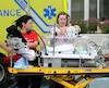 Le personnel médical de l'hôpital de Montréal pour enfants a pris un grand soin des jeunes patients lors du déménagement vers les nouvelles installations du CUSM.