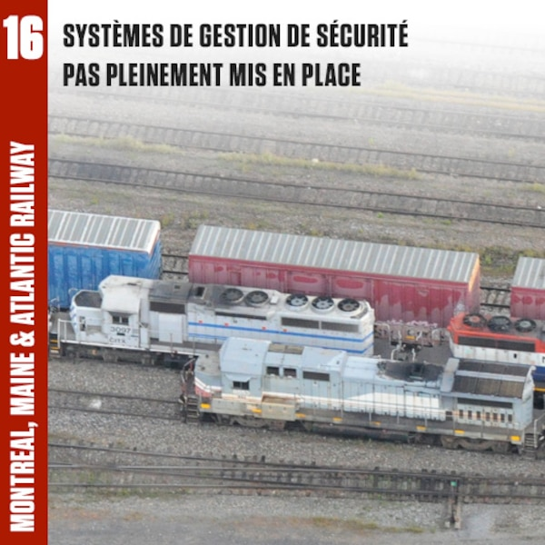 Il manquait des éléments clés dans le système de gestion de la sécurité (SGS) de la MMA, et d'autres éléments n'étaient pas utilisés efficacement