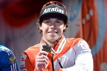Alex Harvey et sa médaille de bronze.