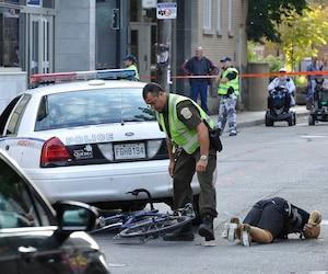 Le 5 septembre 2014, les enquêteurs de la Sûreté du Québec ont effectué une reconstitution de la scène de l'accident dans Saint-Roch.
