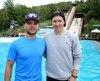 Les sauteurs Olivier Rochon et Travis Gerrits, photographiés la veille du début du Mondial AcrobatX qui aura lieu ce week-end à Lac-Beauport.