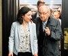 La chef du Bloc québécois Martine Ouellet a échangé avec des militants , dimanche.
