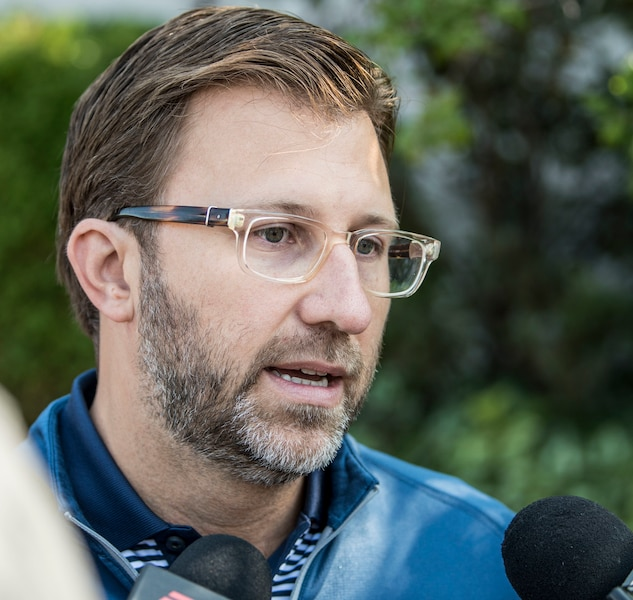 Andrew Wetenhall (Directeur des Alouettes) lors du tournoi de golf annuel des Alouettes de Montréal au profit de la Fondation des Alouettes le mardi 12 septembre au Club de golf Saint-Raphaël à l'Île-Bizard.