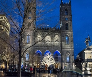 La basilique Notre-Dame, à Montréal