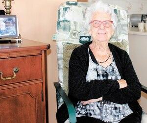 La centenaire Graziella Côté n'a pas peur de vivre seule dans sa maison de Drummondville.