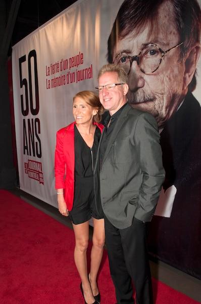 L'humoriste François Massicotte était accompagné de sa conjointe  Bianca Longpré.