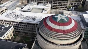 Un bouclier géant de Captain America au MIT