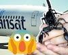 Un avion d'Air Transat (pas celui de l'histoire), un scorpion (pas celui de l'histoire) et un emoji exprimant la terreur.